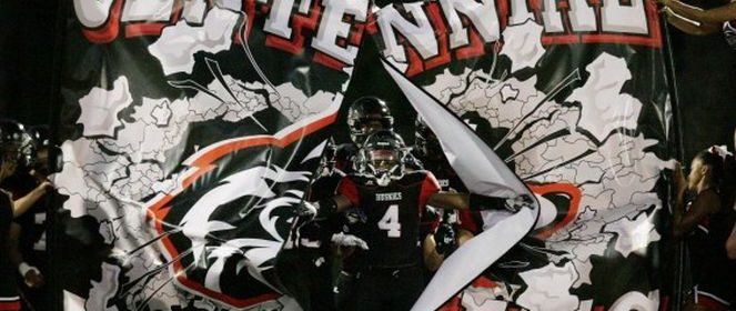 miles-reed-leads-centennial-onto-the-field-2016
